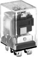 96 Series Blade Terminal Relay With Top MTD Flange - DPDT - 230VAC Coil