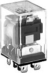 96 Series Blade Terminal Relay With Top MTD Flange - DPDT - 24VAC Coil