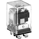 96 Series Blade Terminal Relay - Indicator Light - DPDT - 24VAC Coil