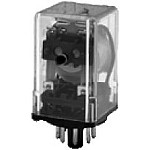 97 Series Octal Relay - Push to Test - Indicator Light - 3PDT - 120VAC Coil
