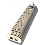 Sycom 7 Outlet power strip surge arrestor with telephone protection