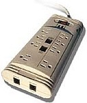Sycom 8 Outlet power strip surge arrestor with dual pair of telephone